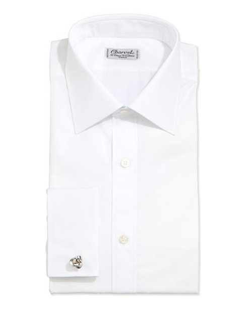 Poplin French-Cuff Shirt by Charvet in The Loft