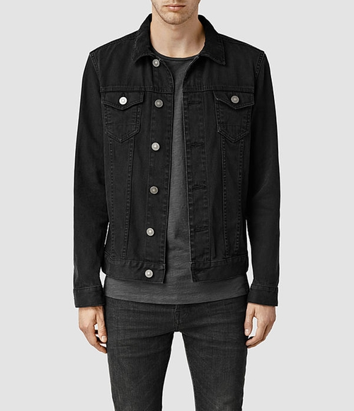 Bond Denim Jacket by All Saints in Nashville - Season 4 Episode 7