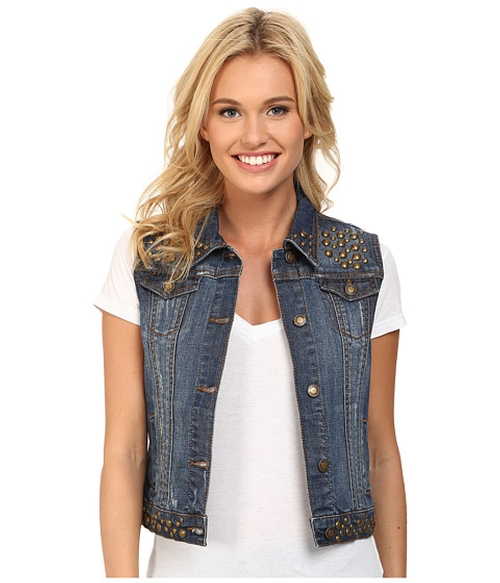 Denim Vest Jacket w/ Studding by Stetson in Jem and the Holograms