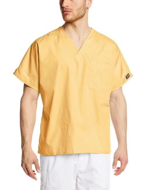 Workwear Scrubs Unisex V-Neck Tunic Shirt by Cherokee in Contraband