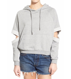 Lucia Cutout Sleeve Hoodie by Publish Brand in The Flash