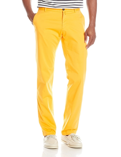 Cotton Stretch Straight-Fit Pants by Façonnable in Scream Queens - Season 1 Episode 4