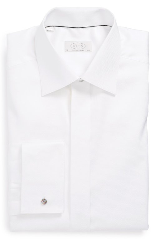 Contemporary Fit Tuxedo Shirt by Eton in Run All Night
