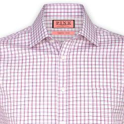 Bell Check Shirt - Button Cuff by THOMAS PINK in Million Dollar Arm