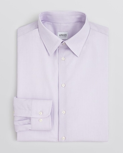 End-on-End Solid Dress Shirt by Armani Collezioni in Empire