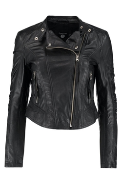 Boutique Lexi Leather Biker Jacket by Boohoo Boutique in Popstar: Never Stop Never Stopping