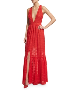 Sleeveless Plunging V-Neck Tiered Maxi Dress by Sachin & Babi Noir in Crazy Ex-Girlfriend