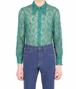 70's Style Collar Lace Shirt by Gucci in Empire