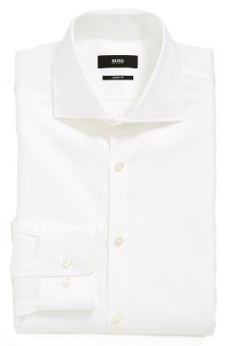 'Miles' Sharp Fit Check Dress Shirt by Boss Hugo Boss in Run All Night