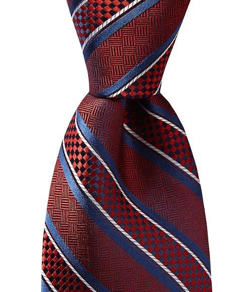 Bump Stripe Silk Necktie by Daniel Cremieux in A Most Violent Year