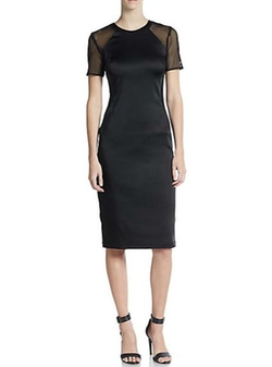 Mesh-Panel Sheath Dress by ABS in Pretty Little Liars