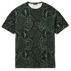 Python Print Cotton Blend T-Shirt by Jil Sander in Empire