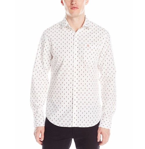 Pineapple Print Long Sleeve Shirt by Original Penguin in The Boss