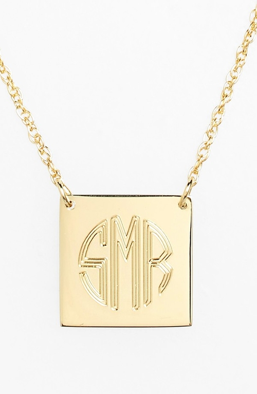 Personalized Square Pendant Necklace by Jane Basch Designs in Jem and the Holograms