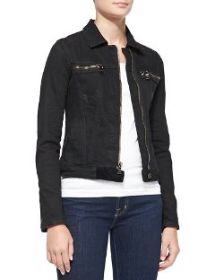 Cropped Denim Jacket with Zips by RtA Denim in Fast & Furious 6