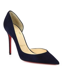 Iriza Suede Point-Toe Pumps by Christian Louboutin in Suits
