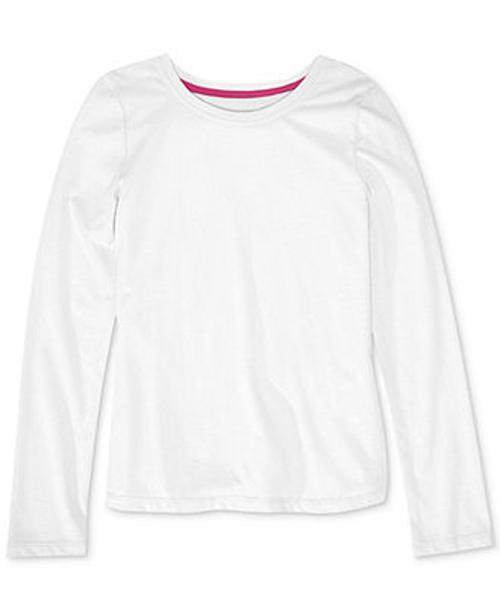 Girls' Solid Basic Long-Sleeve Tee Shirt by Epic Threads in Wish I Was Here