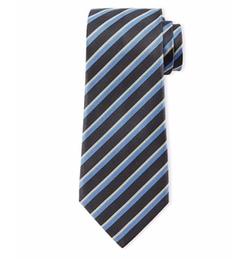 Striped Silk Tie by Giorgio Armani in Billions