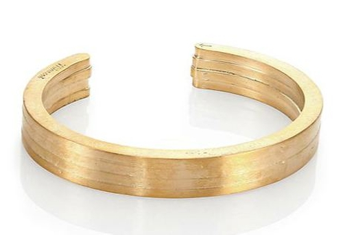 Brass Layered Cuff Bracelet by Miansai in Point Break