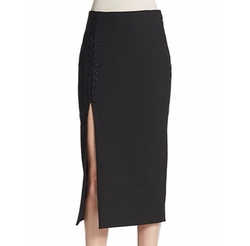 Kennedi Lace-Up Pencil Skirt by Elizabeth And James in Mistresses