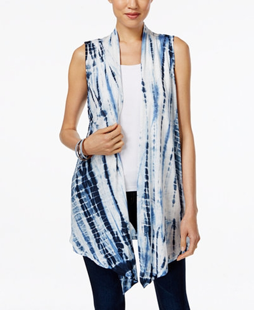 Tie-Dyed Open-Front Vest by Style & Co.  in Gilmore Girls: A Year in the Life - Season 1 Preview