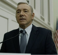 Custom Made Black Suit by Hugo Boss in House of Cards