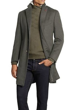 Ross Wool & Angora Overcoat by Isaia in The Man from U.N.C.L.E.