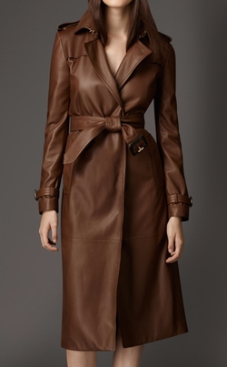 Lambskin Wrap Trench Coat by Burberry in Power