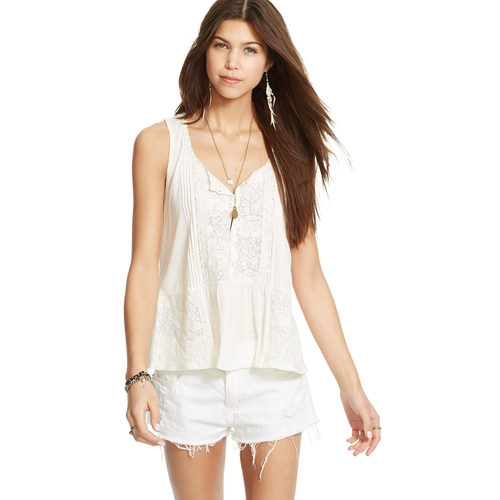 Lace Trim Boho Top by Denim & Supply Ralph Lauren in High School Musical 3: Senior Year