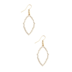 Crystal Trellis Hoop Earrings by Sole Society in Fuller House