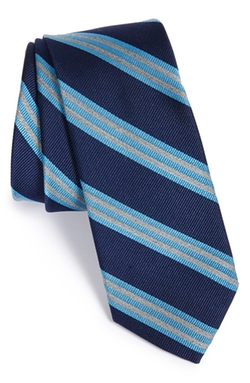 'Hunnam Stripe' Silk Blend Tie by 1901 in Nashville