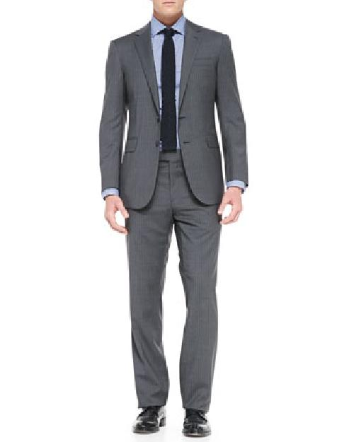 Anthony Pinstripe Two-Piece Suit, Medium Gray by RLX Ralph Lauren in Transcendence