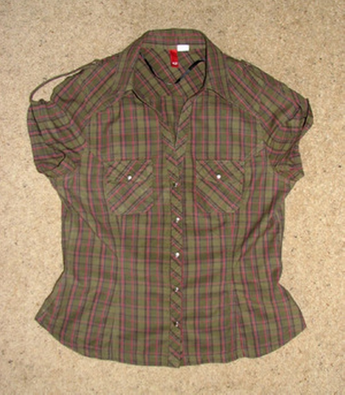 Divided Green Plaid Shirt by H&M in Twilight