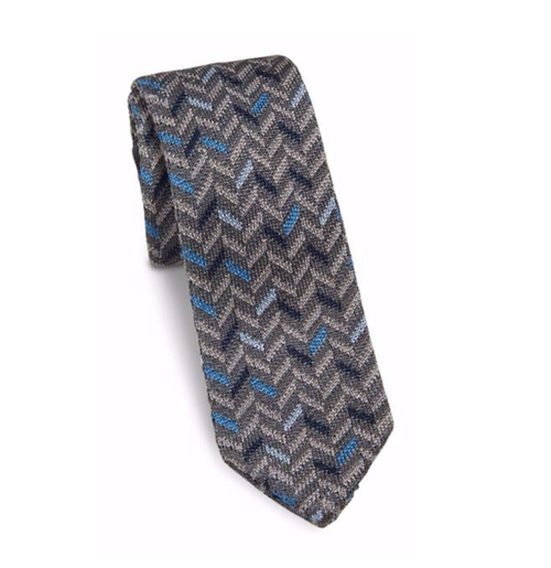 Multi-Toned Chevron Knit Silk Tie by Hook + Albert in Crazy Ex-Girlfriend - Season 2 Episode 1