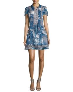 Marisa Beads-Print Babydoll Dress by Diane Von Furstenberg in New Girl