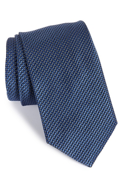 Geometric Print Silk Tie by Brioni in Suits