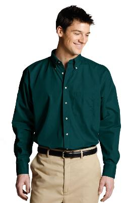 Men's Long Sleeve Button Down Poplin Shirt by Ed Garments in What If