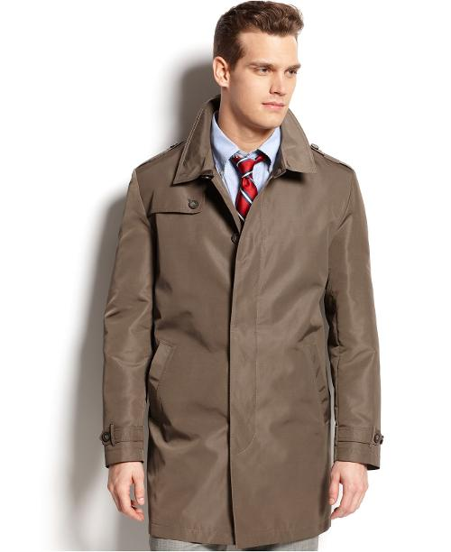 Dobby Textured Raincoat by Tommy Hilfiger in Jersey Boys