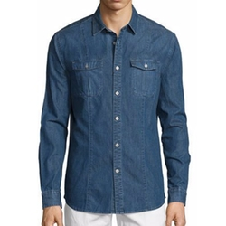 Long-Sleeve Denim Shirt by John Varvatos Star USA in Lethal Weapon