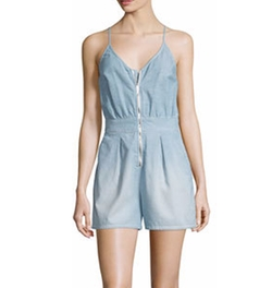 Sleeveless Zip-Front Romper by 7 For All Mankind in Marvel's Runaways