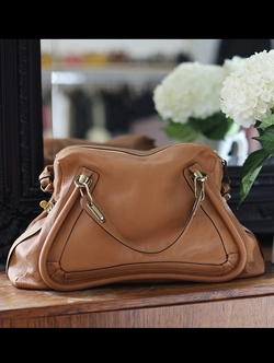 The Paraty Large Textured-Leather Bag by Chloé in Bridesmaids