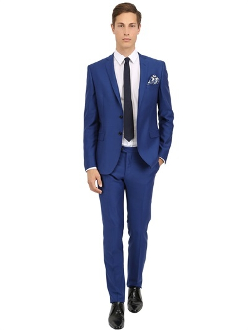 Wool Micro Birds Eye Suit by Tonello in The Transporter: Refueled