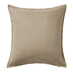 Gurli Solid Beige Pillow Cushion by Ikea in Her