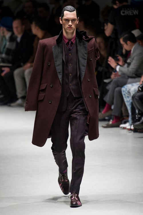 Burgundy Double Breasted Coat by Vivienne Westwood in Now You See Me 2