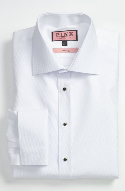 Slim Fit Tuxedo Shirt by Thomas Pink in Run All Night