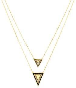 1960 Double Triangle Pendant Necklace by House Of Harlow in The DUFF
