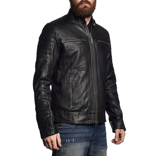 Easy Rider Leather Jacket by Affliction Clothing in Jessica Jones - Season 1 Episode 12