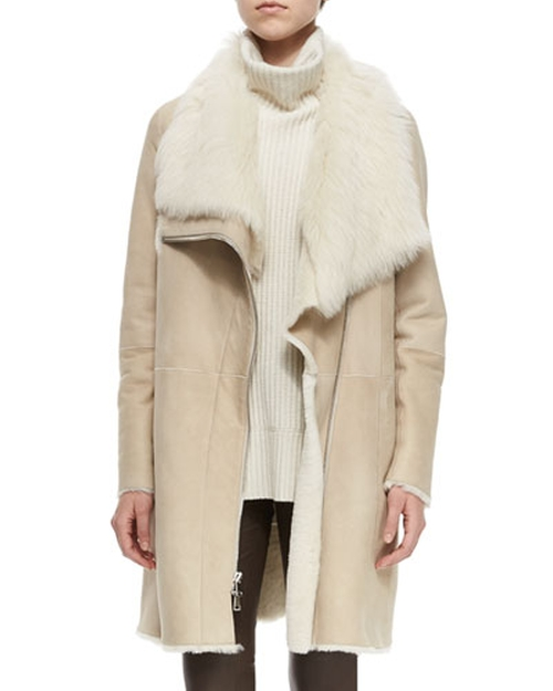 Asymmetric Shearling Fur Coat by Vince in The Hunger Games: Mockingjay - Part 2