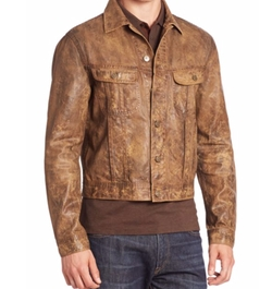 Button-Down Denim Jacket by Polo Ralph Lauren in Sneaky Pete