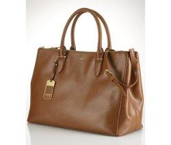 Double Zip Satchel Bag by Lauren Ralph Lauren in That Awkward Moment